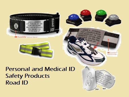 Emergency contact bracelets, reflective gear, supernova lights and more to keep you safe.