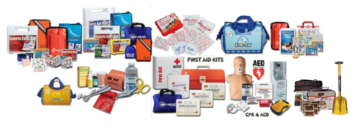 hazards and first aid Although there is no mandatory list of items to be included in a first-aid kit, a  suggested minimum stock of first-aid items in a low hazard.