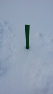 This is a yardstick in the snow in my yard.