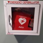 AED in a cabinet
